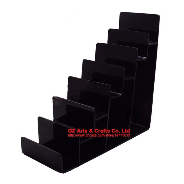 補強クリアブラック多層アクリルシェルフ財布財布ディスプレイスタンド携帯電話シェルラックハンドバッグホルダー