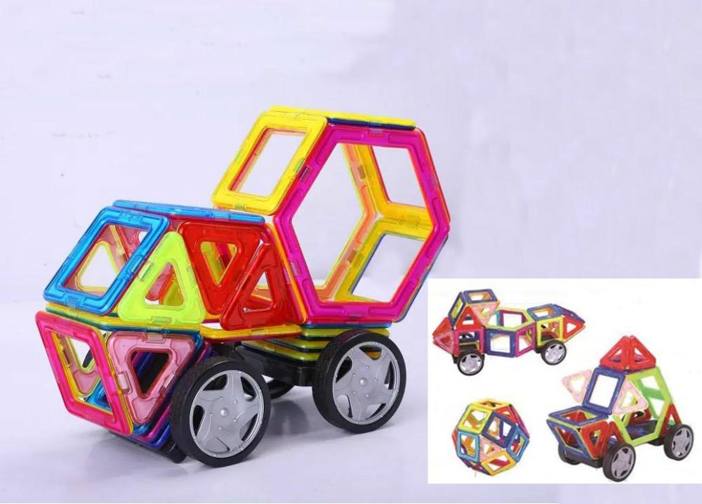 Variety Children's Building Blocks Magnetic Sheet Magnetic Wisdom Magic piece wheel sets