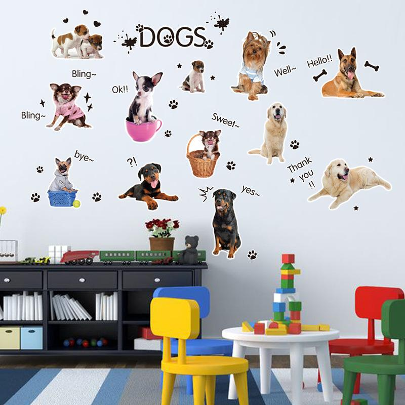 Marvelous Cartoon Dogs Wall Art Mural Decal Sticker Kids Boys Girls Room Wallpaper  Decoration Decor Home Art Dogs Wall Sticker Decal Room Decals Room Decor  Sticker ... Part 9