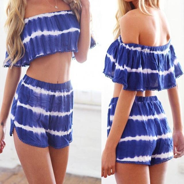 2017 New Arrival Hot Sale Women Summer Beach Stripe Short Sleeve ...