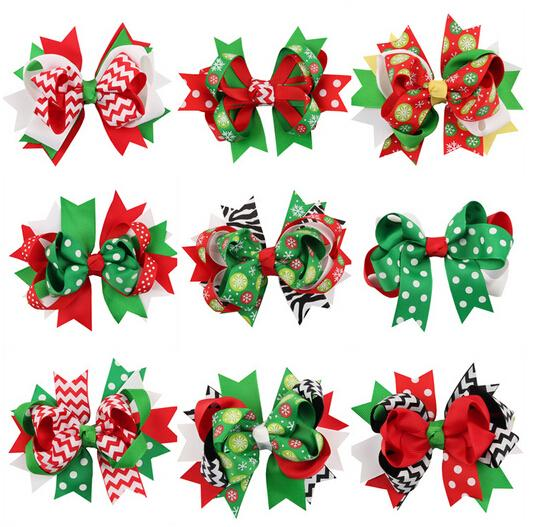 Swallowtail Christmas bow Christmas ornaments headdress baby hairpin children's hair accessories holiday gifts