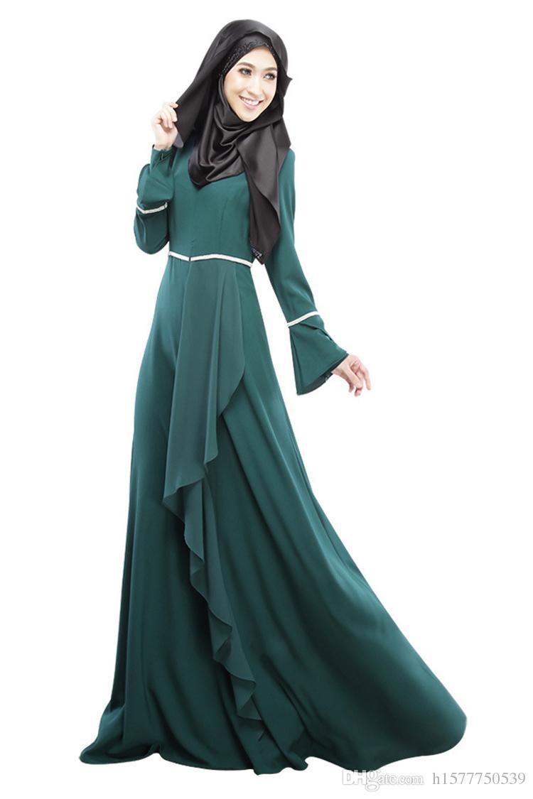Abaya robe musulmane femmes turques vêtements islamique abayas jilbab musulmane robes longues vêtements dubaï kaftan longo giyim rose