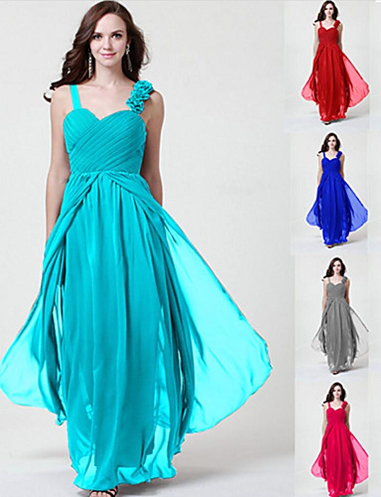 Long Bridesmaid Dresses Custom Made Colors Chose Sweetheart Beaded ...