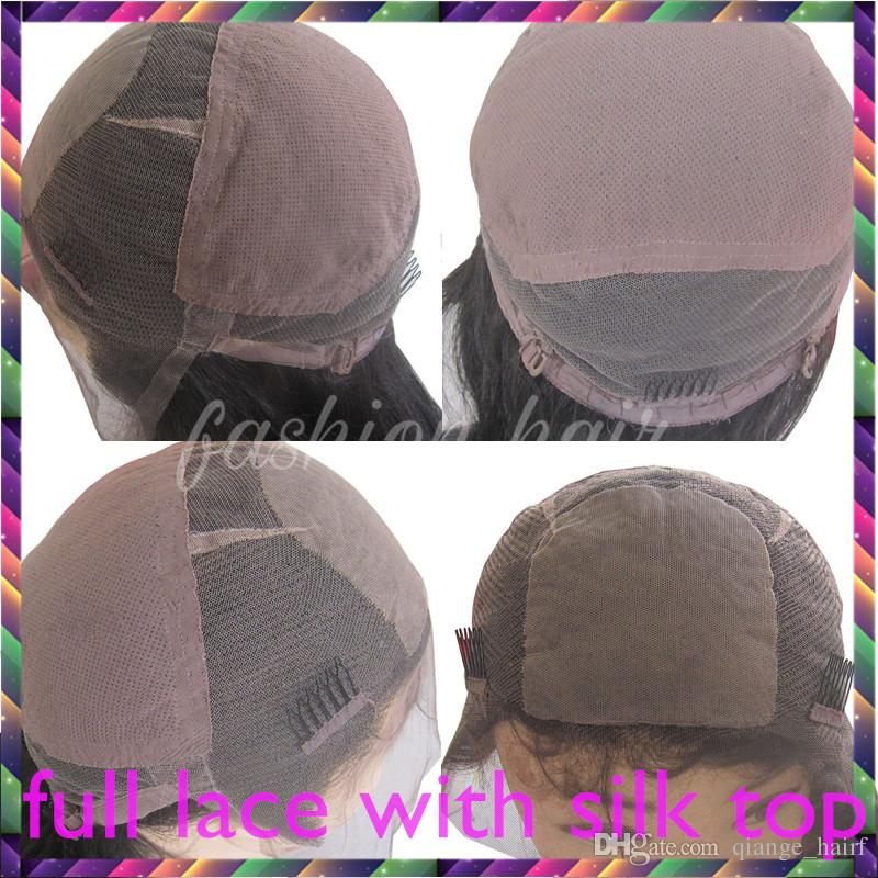 Top Quality Brazilian Human Hair Wigs Brazilian Silky Straight Lace Front Wigs Glueless Full Lace Wigs Bleached Knots