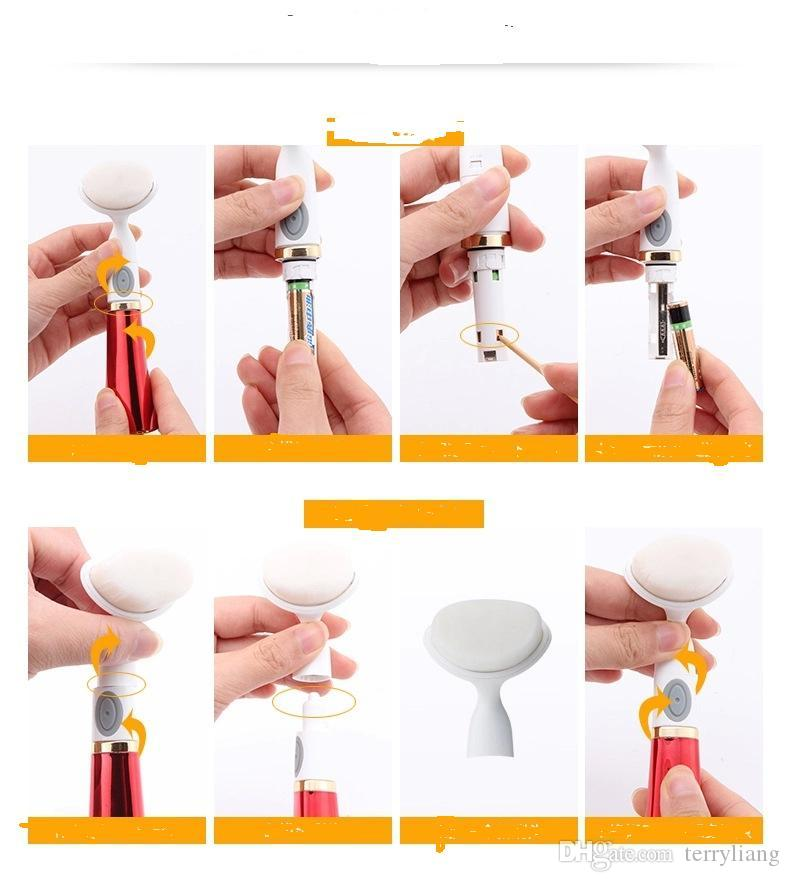 Hot Sale lady Electric washing face brush Machine Facial Pore Cleaner facail Cleaning brush Skin care Massager face beauty tool