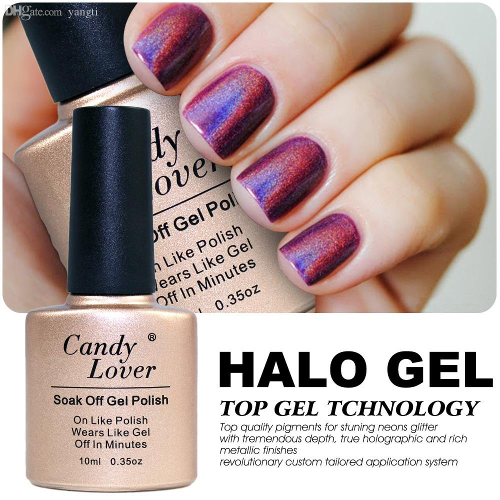 Wholesale-Newest 3D Nail Gel Polish High quality Soak Off UV/LED Gel Colour HALO 10ml Healthy and Eco-friendly Gel Lacquer for Nail Art