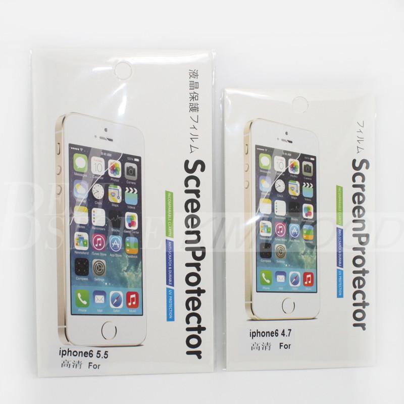 Película clara del protector del protector de la pantalla para Iphone 7 más Iphone 6S más 5S Samsung Galaxy Note 5 Note 4 S7 / S6 / S5