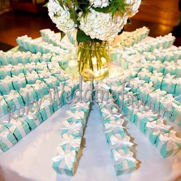 Бесплатная Доставка! Голубые коробки конфеты, голубые благосклонности коробок, коробки благосклонностей венчания, BOES благосклонности партии