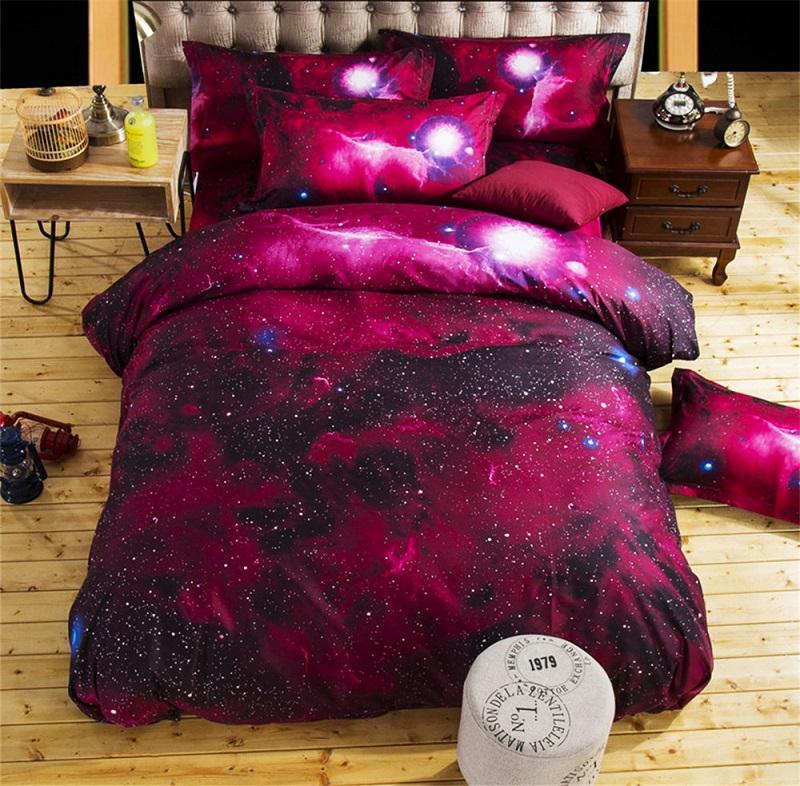 Acheter Ensembles De Literie En Gros 3D Unicorn Universe Espace Exterieur  Couette Drap Housse De Couette Avec Pillowcase Galaxy Linge De Lit Ensemble  De ... 03965351f18