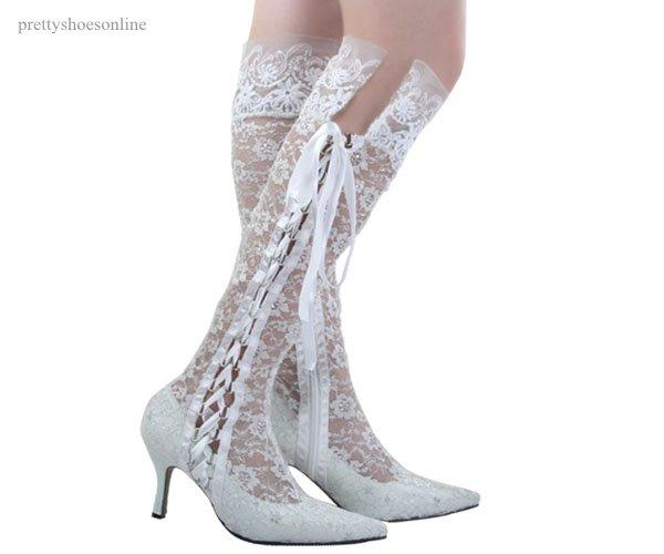 9bdcf9e34d7 new sexy white lace wedding boots evening party dress women bridal shoes  with plus size us