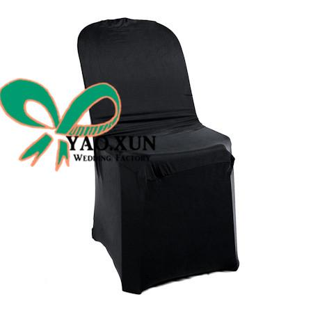 Black Color Plastic Chair Cover \ Lycra Spandex Chair Cover For Plastic Chair