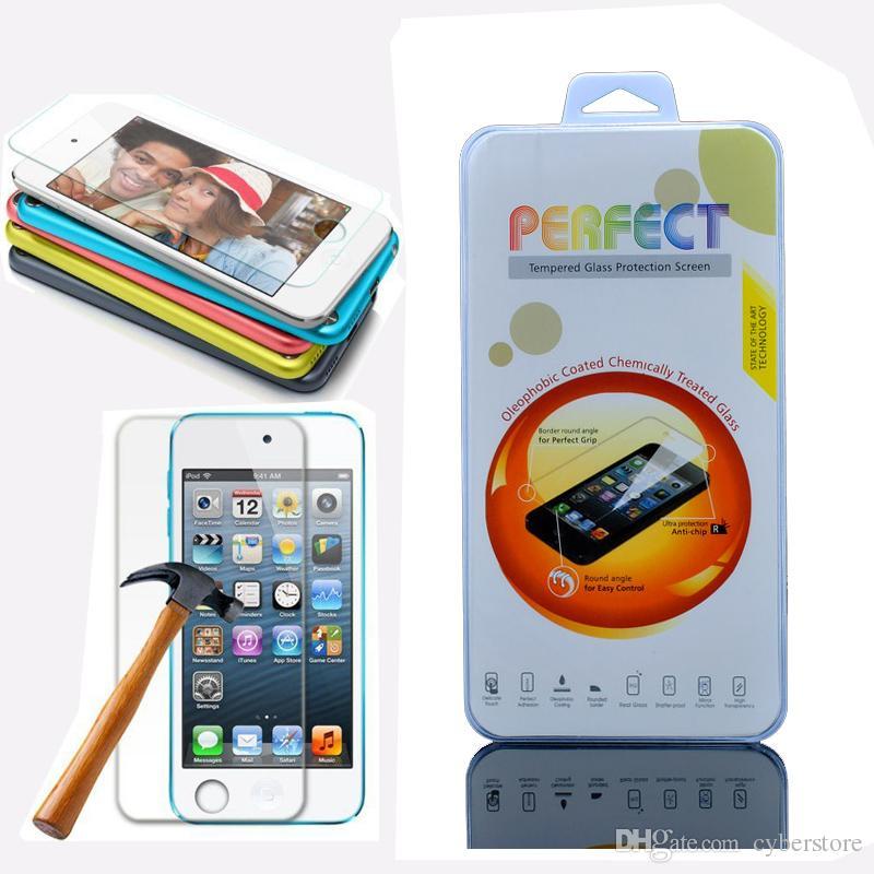 Para ipod touch 6 5 iphone 7 6 s plus 5 s filme protetor de tela de vidro temperado anti-explosão toque 5o sexto gen