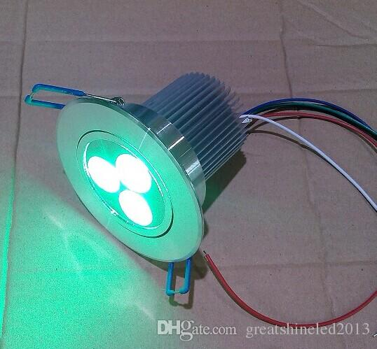 low voltage dmx controller 4 wires 3in1 rgb 3X3W led ceiling light DC 12V used for entertainment centres and night clubs
