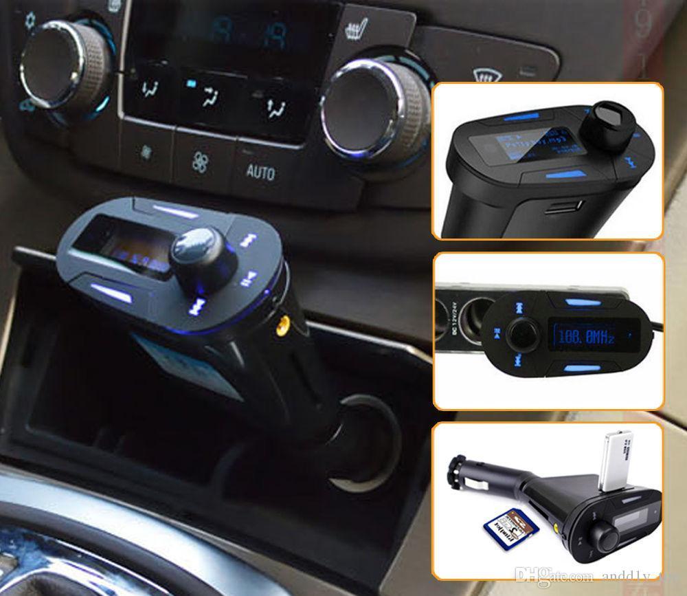 LCD Wireless FM transmitter Radio Modulator Car mp3 player MP3 WMA USB SD/MMC SD Card FM Audio mp3 music player Multi-Color US02