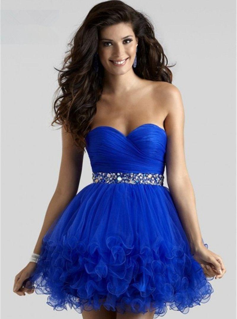 Tight blue prom dress - Prom dress style