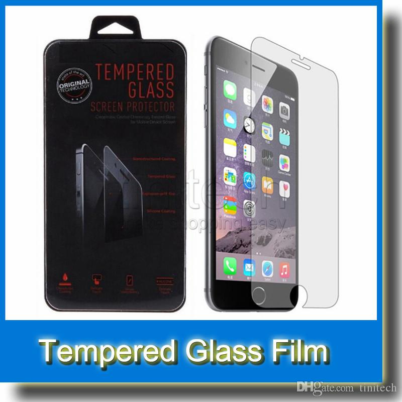 new product 4dd19 851c4 For iPhone 6 0.26MM 2.5D Screen Protector Tempered Glass Film Guard for  iPhone 6 Plus 5 5S 4 4S Galaxy S6 S6 Edge S5 S4 NOTE 3 Note 4