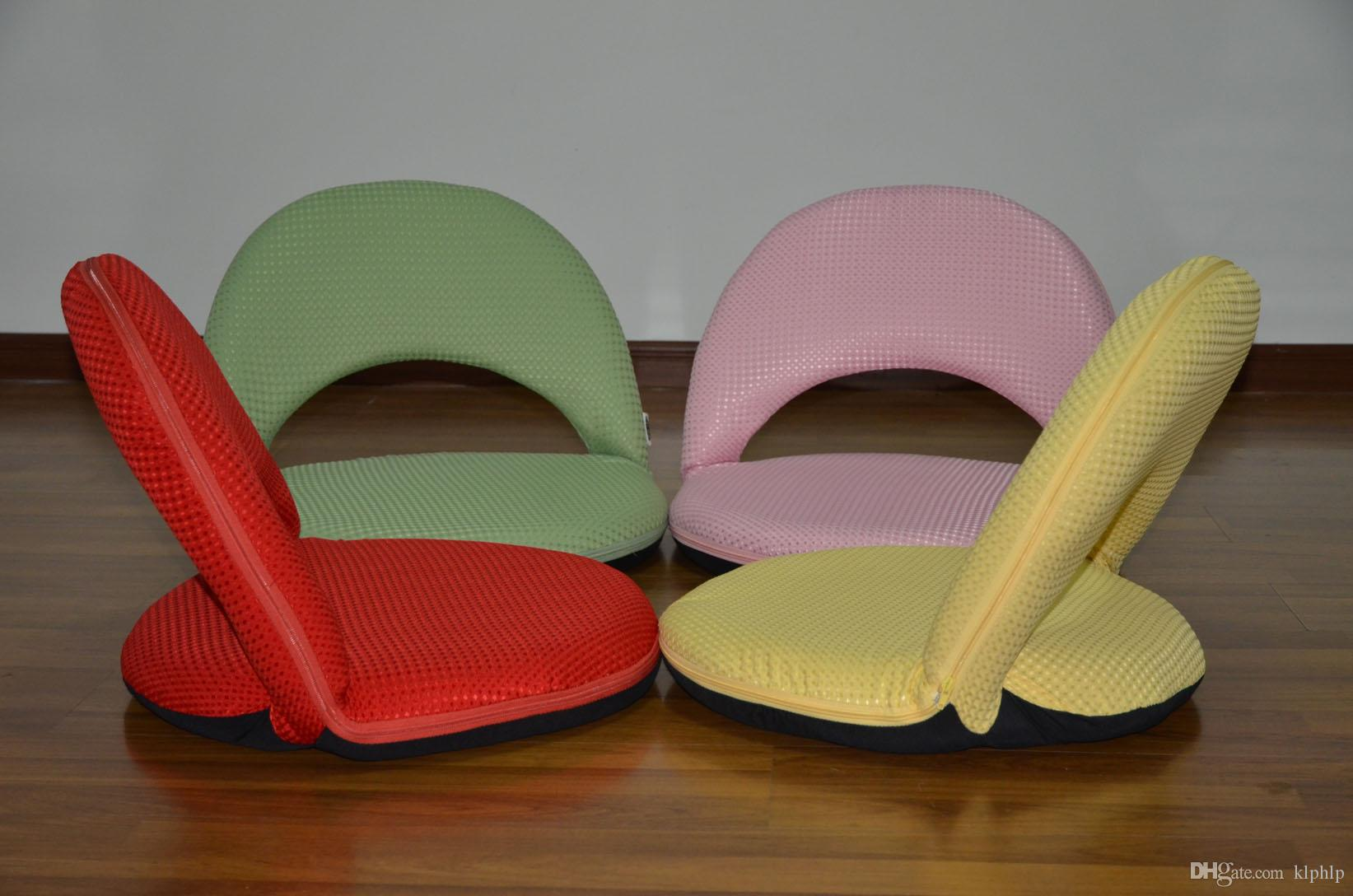 177 Mesh Fabri Floor Folding Chair 17to 17 Adjustable Hair Sitting ...