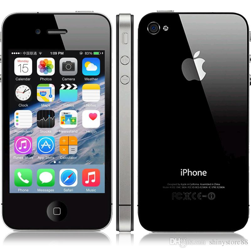Refurbished Original Apple Iphone 4 3.5 Screen 8GB/16GB/32GB IOS7 GPS WIFI 3G Free DHL Shipping