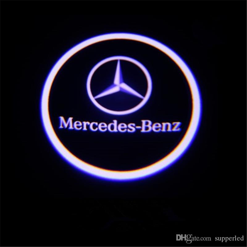 Welcome Car Logo Door Light LED Laser Projector for Mercedes Benz W212 W176 C204 S212 X166 W246 AMG E B C Class