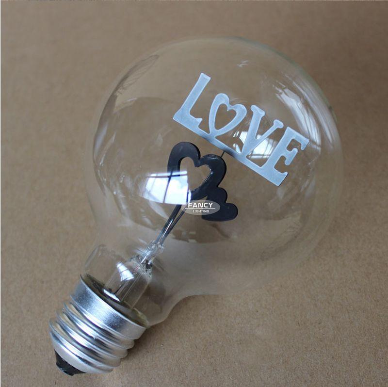 best wholesale led edison light bulb love heart e27 3w 220v retro filament lamp bulb decorative bulb edison bulb for holiday gift led spot