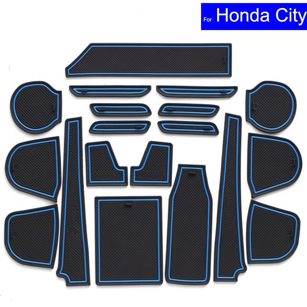 Non Slip Car Door Slot Mats Gate Carpets Position Cup Holder Pads