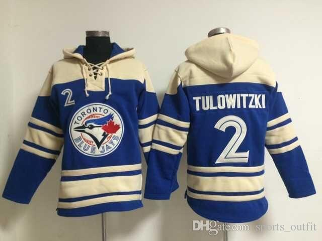 e856707a8 Toronto Blue Jays  2 Troy Tulowitzki Lace Up Pullover Hooded Sweatshirt  Baseball Hoodies Men s Baseball Jackets Stitched Name And Number Baseball  Hoodies ...