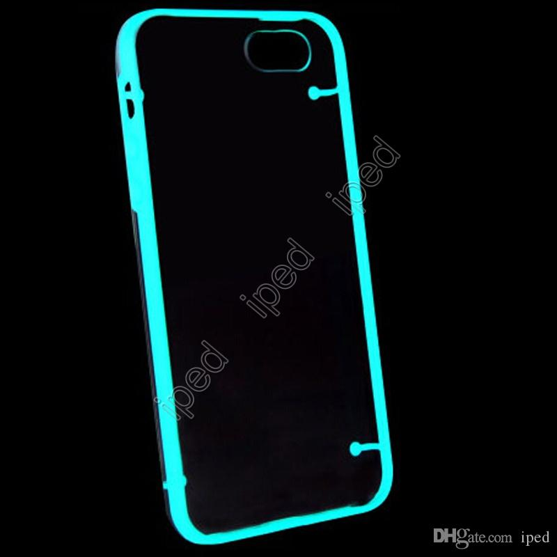 finest selection 22a74 c38ea Transparent Luminous Light Up Glow In The Dark TPU Hard Case Ultra Thin  Cover Silicone Skin for iPhone 6 4.7
