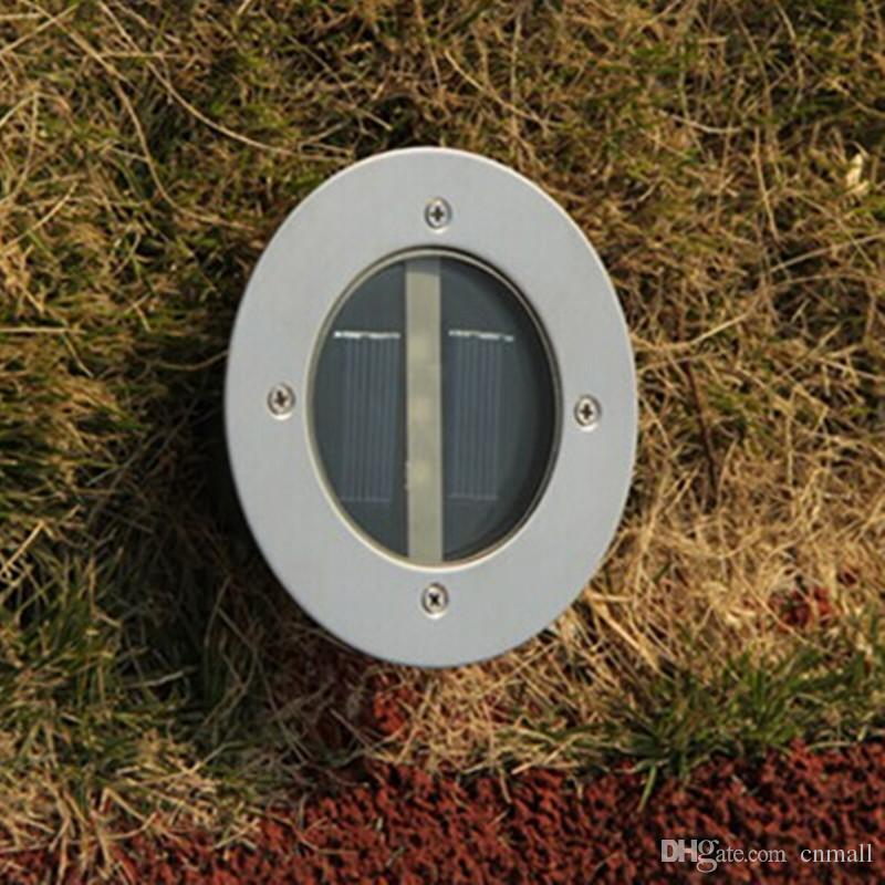 Solare sotterraneo 3LED Solare sotterraneo Lampade impermeabili sotterranee Illuminazione a pavimento tondo Giardino esterno Decorazione stradale Risparmio energetico