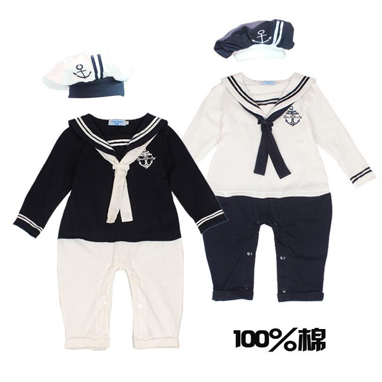 2018 2015 Spring New Brand Baby Boys Girls Baby Romper Sailor Dress Withe Hat Collection Suit Newborn Summer Costume Cotton Long Sleeve From Lin824468135 ...  sc 1 st  DHgate.com & 2018 2015 Spring New Brand Baby Boys Girls Baby Romper Sailor Dress ...