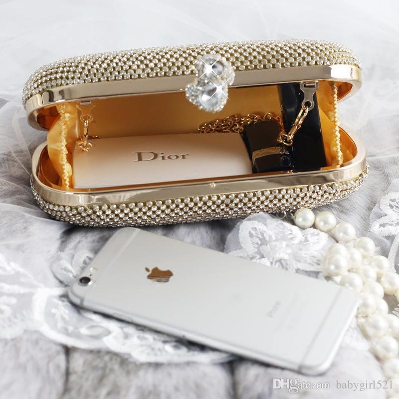 Shinny Bling Diamants Or Argent Sacs À Main De Mariée 2019 Hot Style Mode Femmes Pochettes Cristal Pour Les Soirées Soirées Formelle Toute Vente