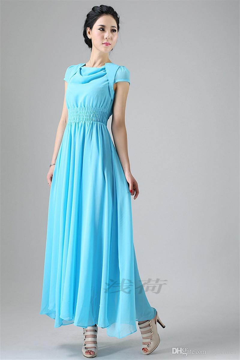 Summer Dress 2015 Long Party Dresses Chiffon Bridesmaid Dresses ...