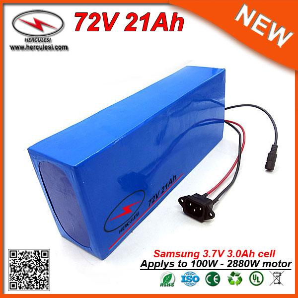 Lithium Battery Pack >> Big Power 2160w 72v Lithium Battery Pack 21ah Electric Bike Battery Pack In Samsung 18650 Cell Li Ion Pack 30a Bms 2a Charger