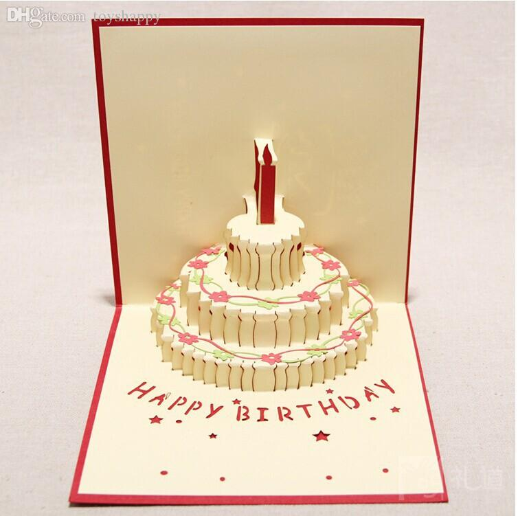 Wholesale Happy Birthday Gift Greeting Cards Diy Paper Artware
