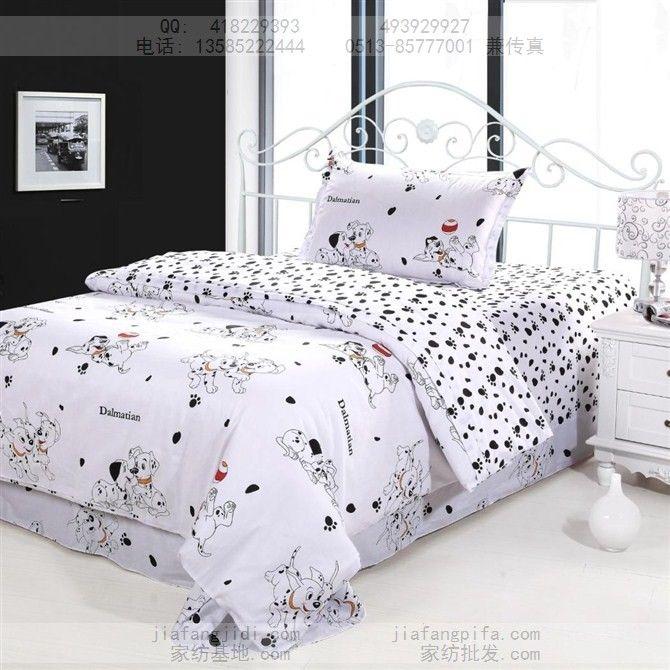 Dog Print Bedding Sets Cotton Bed Sheets Bedspread Kids Cartoon ...