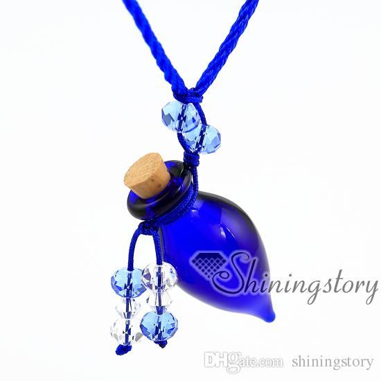 cone lampwork glass essential oil necklace diffuser necklaces essential oil diffuser pendant necklace vials Perfume bottle