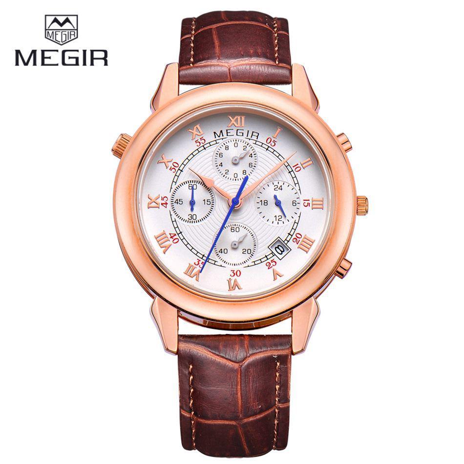 Compre Megir Sports Relógio Cronógrafo De 24 Horas Dos Homens Quartz ... 4013834111