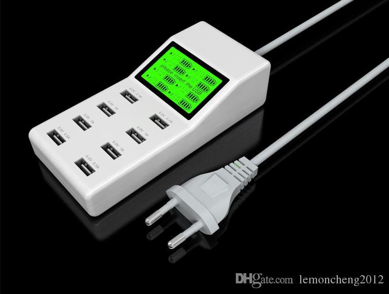 스위처로 확장 소켓 콘센트 충전 8Port의 USB 허브 벽 충전기 AC 전원 어댑터 미국 EU 플러그 슬롯
