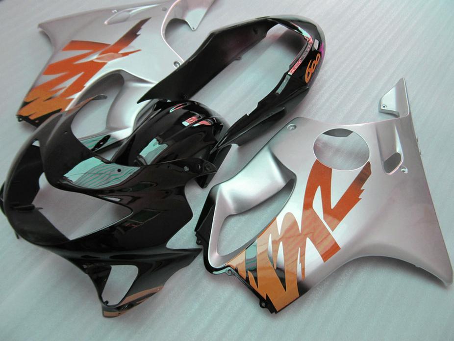 Perfect Body parts for Honda black silver custom fairings CBR 600 F4 1999 2000 Injection molding fairing kit CBR600 F4 99 00 DRXU