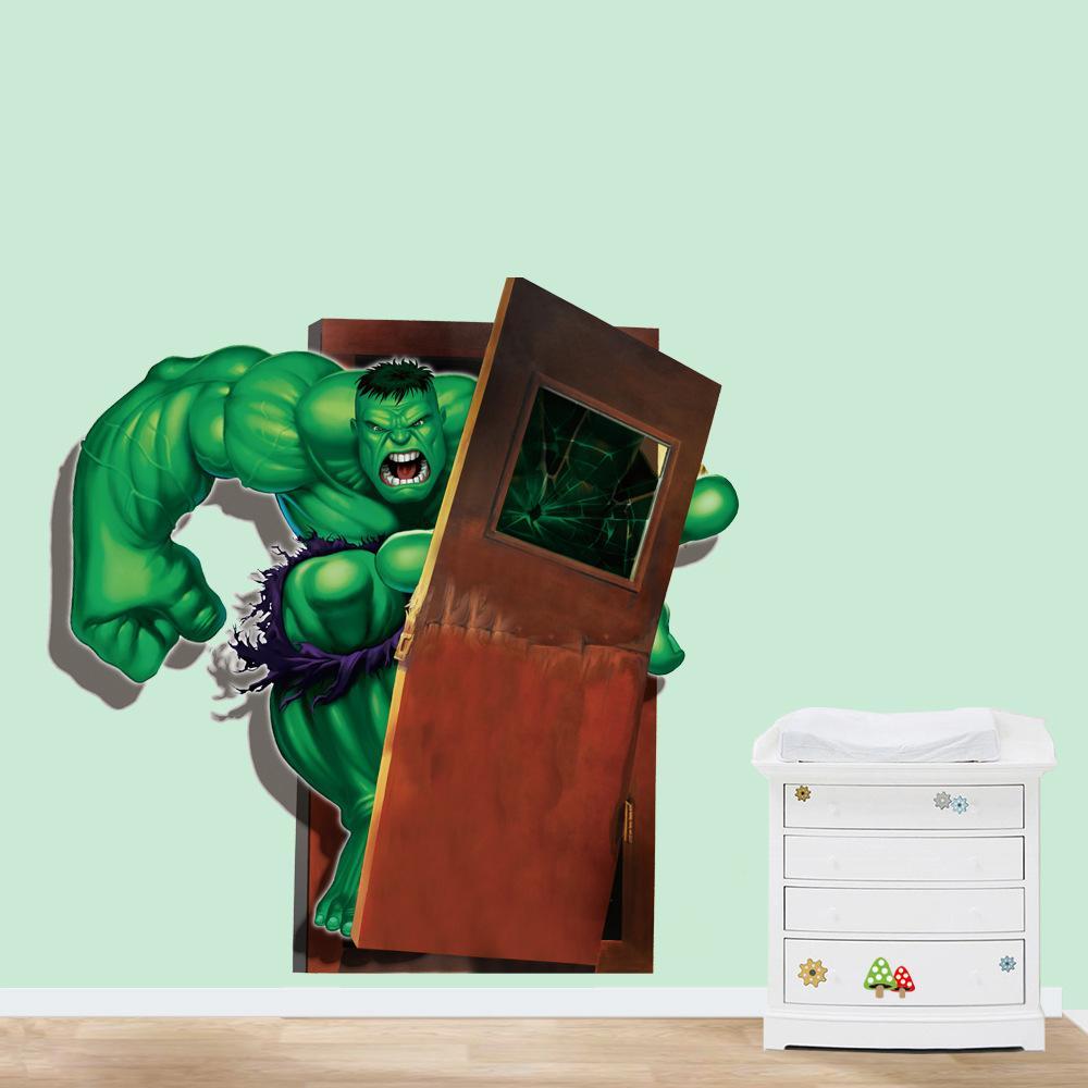 Hulk Running 3d Wall Sticker Pvc Self