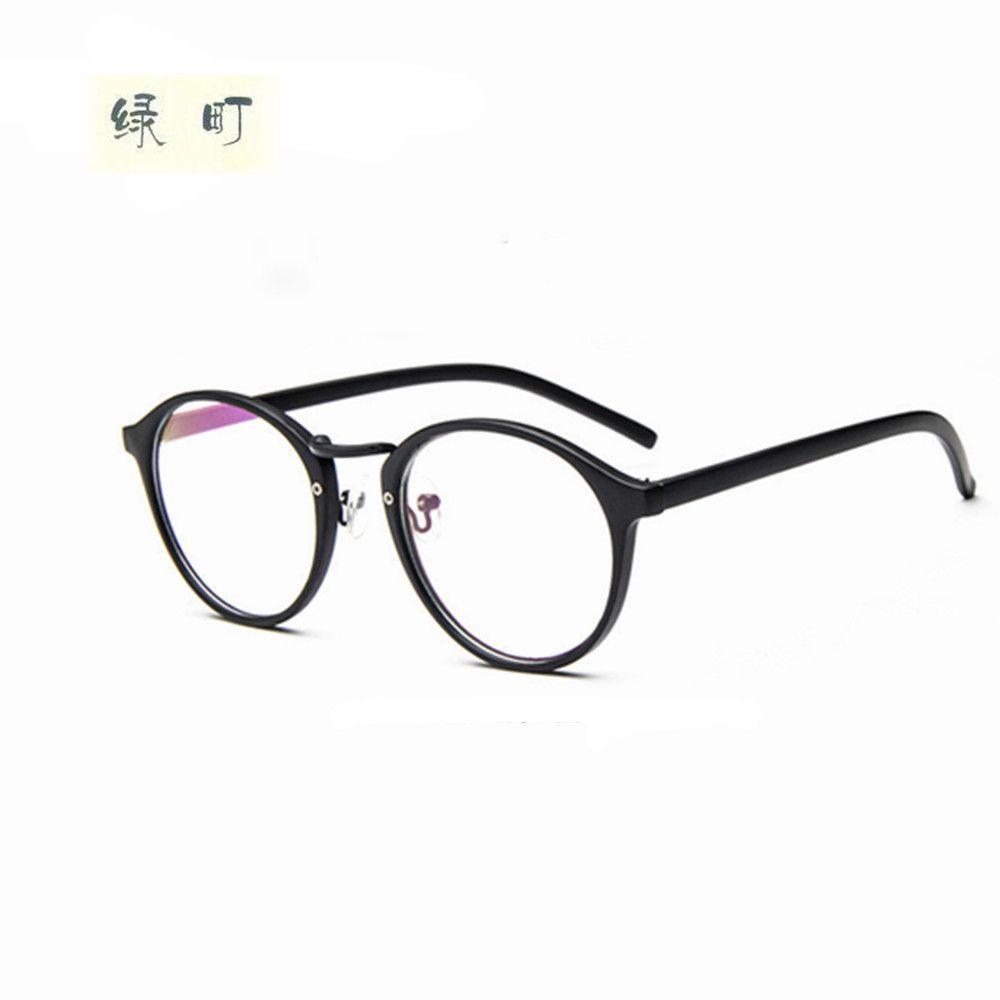 8fb33902e5 2019 Wholesale Women Vintage Glasses Frame Plain Mirror Big Round Metal Optical  Frame Eyeglass Clear Lens Oculos Feminino De Grau From Gocan