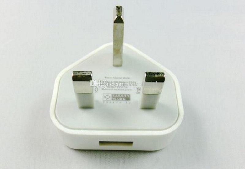 Adaptador de corriente alterna de 5V 1A USB de mayor venta para Android Tablet PC 3 Pines UK Wall Charger UK Plug Colorful
