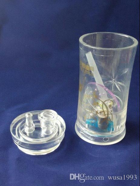 Grossisti liberi di trasporto ----- 2015 nuovi modelli del cilindro acrilico di Yiping narghilé, formato 12 * 5cm, accessori vaso, passi la plancia, paglia