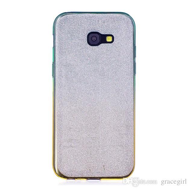 Bling Glitter Sparkle Custodia in TPU Samsung Galaxy S5 S6 S7 Bordo S8 Plus A3 A5 A7 2017 A310 A510 Copertura in pelle di silicone lucido 100 pz