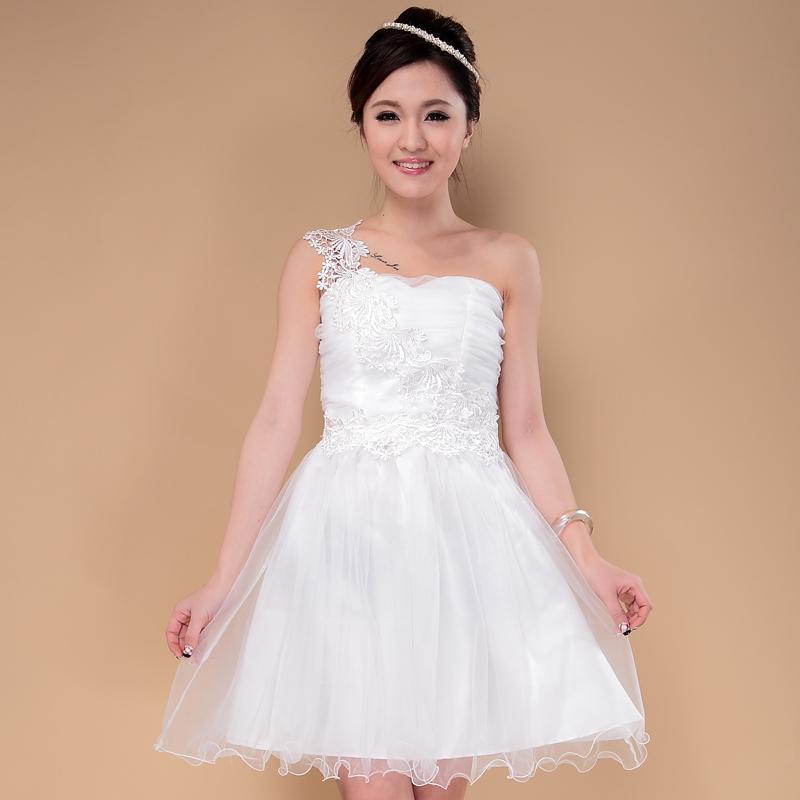 Abiti da damigella d'onore spalla promozione abiti da sposa le sorelle Abiti da festa economici la cerimonia nuziale Abiti viola bianchi verdi rosa chiaro