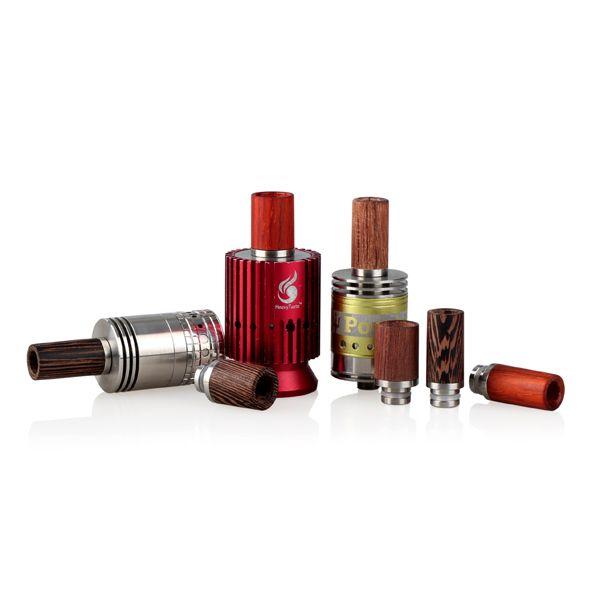 Ecig капельного советы 510 розового дерева для RDA широкий диаметр отверстия стиль 12 мм e сигареты RDA капельного советы высокое качество FJ223