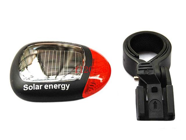 DHL Fedex Solar Power LED Bicycle Lights Bike Rear Tail Lamp Light Bike Safety Flashing Light Lamp,