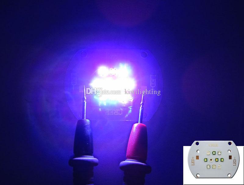 CREE XT-E Royal Blue + XP-E White + Epileds UV Módulo Led Chip Light 30-31V dc 350-600mA