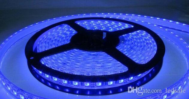 Waterproof LED Strips Light IP67 12 Volt 5 Meter Roll 300 LEDS 60leds/m Flexible Rope Red Blue Green Warm white Holiday Decoration MOQ10