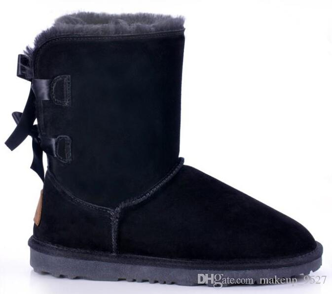 2016 Boże Narodzenie Promocja Damskie Buty Bailey Bow Boots 2014 Nowe buty śniegu dla kobiet