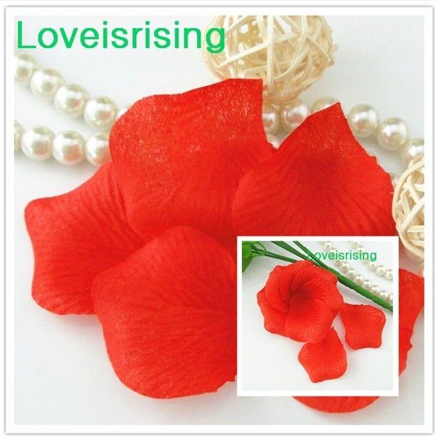 Frete Grátis - 10 packs  RedWhite Não-Tecido Artificial Rose Flor Pétala Para O Partido Do Casamento Favor Decoração